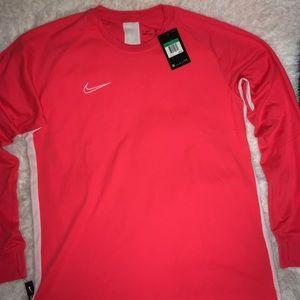 Nike Dri Fit Cream Orange Long Sleeve Shirt sz XL